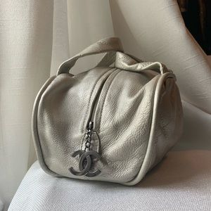 Handbags - SOLD SOLD SOLD Chanel Quilted Silver Bowler Bag